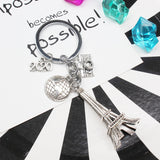 2020 2021 2022 Earth Paris Tower Alloy Camera Pendant Travel Keyring Chain Gift