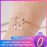 Personalized Custom Name Bracelet Charms Handmade Women Jewelry