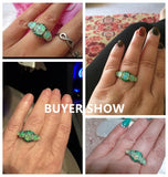 Rings Silver Plated Crystal Bohemia Jewelry Woman