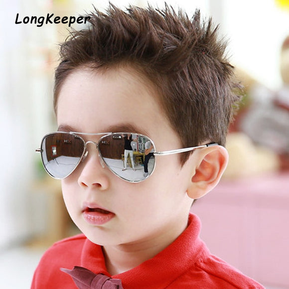Brand Child Sunglasses Mirror Glasses Metal Pilot Sunglasses For Kids