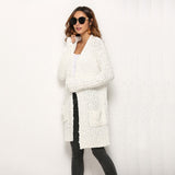 Winter Long Cardigan Female Fashion Slim Jackets