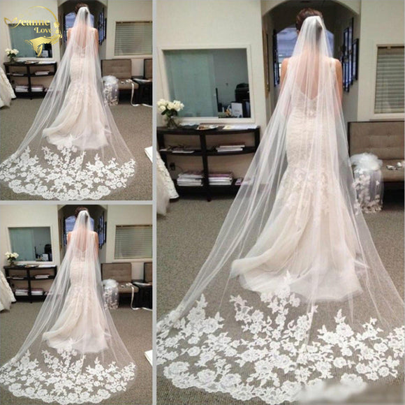 White  Veil Long Bridal Veil Cheap Wedding Accessories