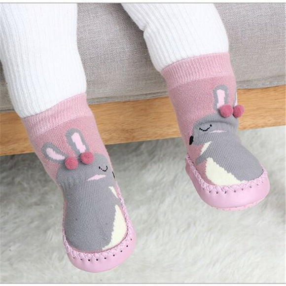 Toddler Indoor Sock Shoes Newborn Baby Socks Thick Terry