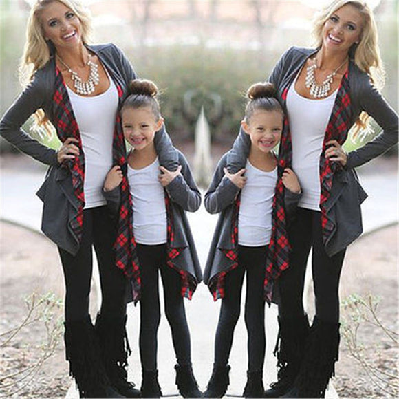Autumn Long Sleeve Family Outfits Clothing Mother Daughter Cardigan Sweater