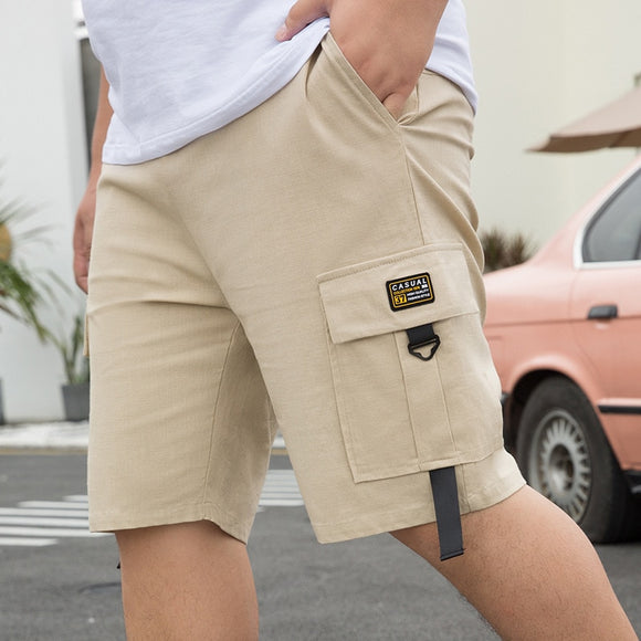 Men'S Cargo Summer Casual Pocket 95% Cotton Short Pants