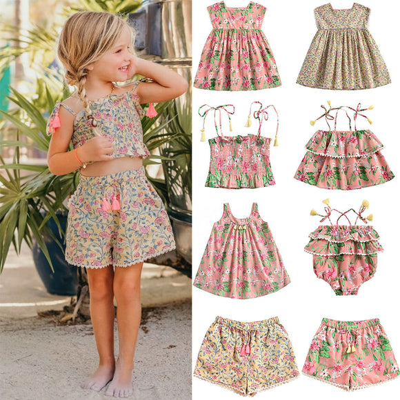 Summer Vintage Floral Brand Beautiful Tutu Hawaii Dress