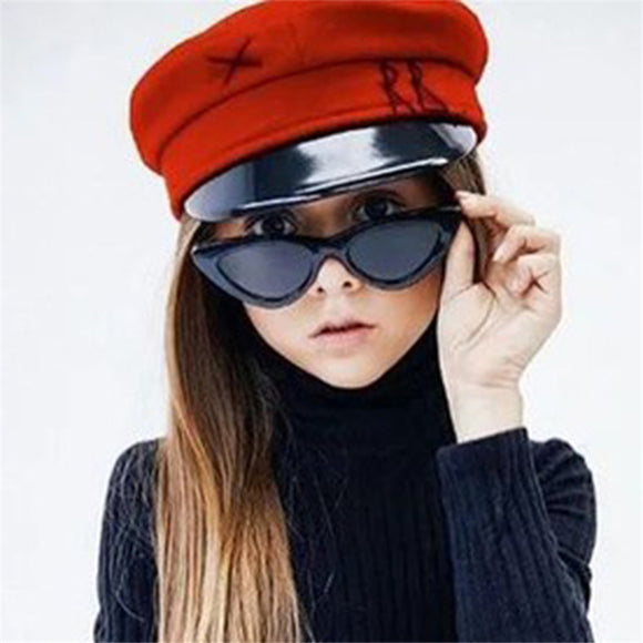 Cat Eye Kids Sunglasses Anti-uv Sun-shading Girl Boy Sunglass