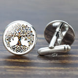 Tree of Life for Men Best Silver Cufflinks Set Men Accessories