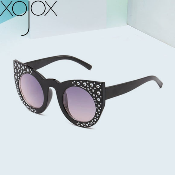 XojoX Kids Sunglasses Girls Diamond Heart Sun Glasses High-grade