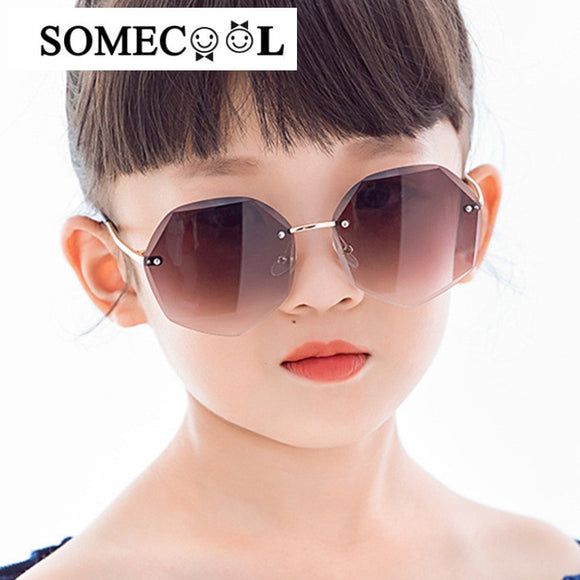 New Arrival Rimless Sunglasses Kids designer UV400 Protect Eyewear