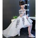 Tulle Princess Off The Shoulder Flower Boat Neck Party Communion Gowns