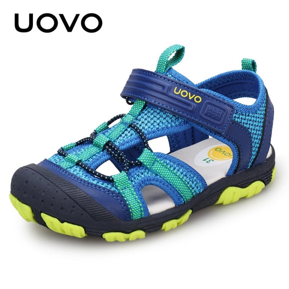 UOVO Summer Boys Sandals Children Sandals Closed Toe Sandals