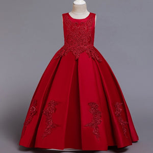 Embroidery Pageant Princess Dress Elegant Party Dress