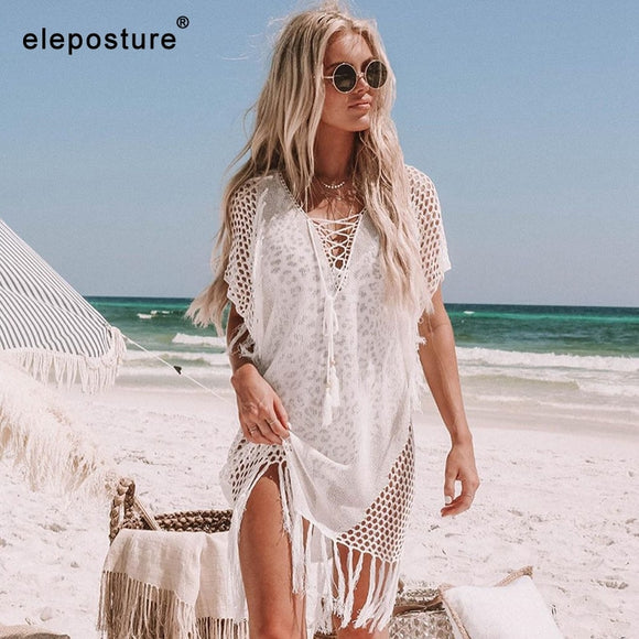 New Knitted Beach Cover Up Women Bikini Swimsuit Cover Up