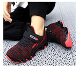 Boys Sports shoes brand fashion sneakers for big kids mesh shoes
