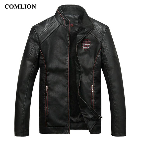 COMLION Faux Leather High Quality Classic Motorcycle Jacket