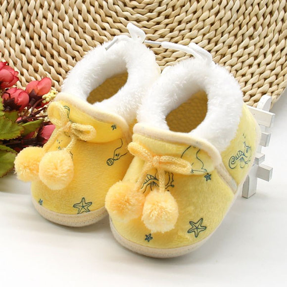 Winter Newborn Baby Girls Boots First Walkers Soft Soled Infan Shoes