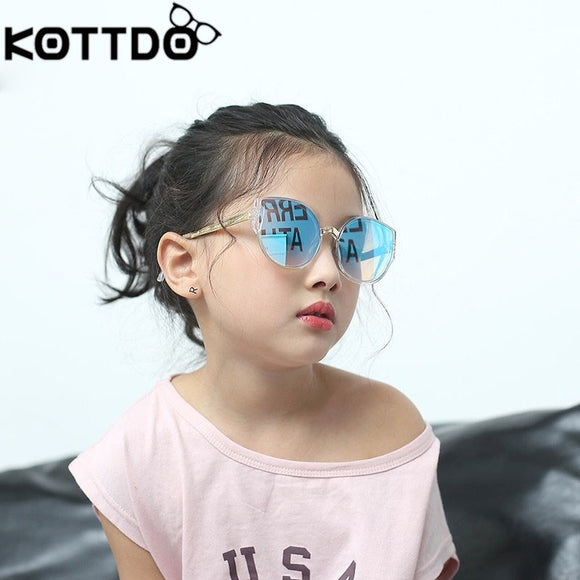 KOTTDO vintage cat eye sun glasses luxury kids sunglasses
