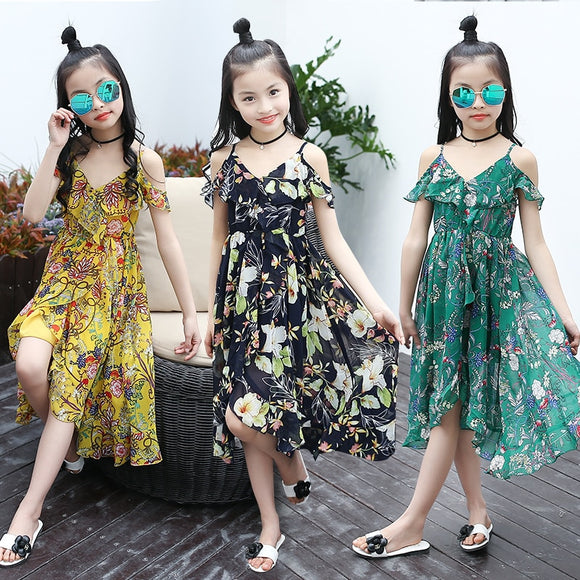 Bohemian Summer Casual Beach Sundress Teenage Kids Teen Clothes