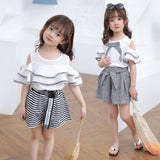 Summer Sets Two Pieces T Shirt & Pants stripe Children Clothing