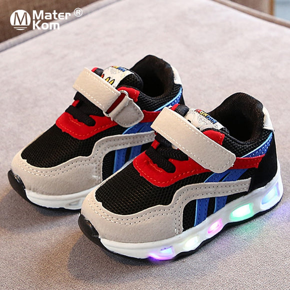 Children's Led Shoes Lighted Sneakers Glowing Shoes with Luminous Sole