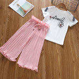 Summer Girls Clothes Unicorn Sequins Chiffon Pants Outfit Tracksuit
