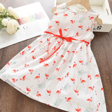 Summer Kid Dress Floral Sweet Party Suits Butterfly Costume Clothing