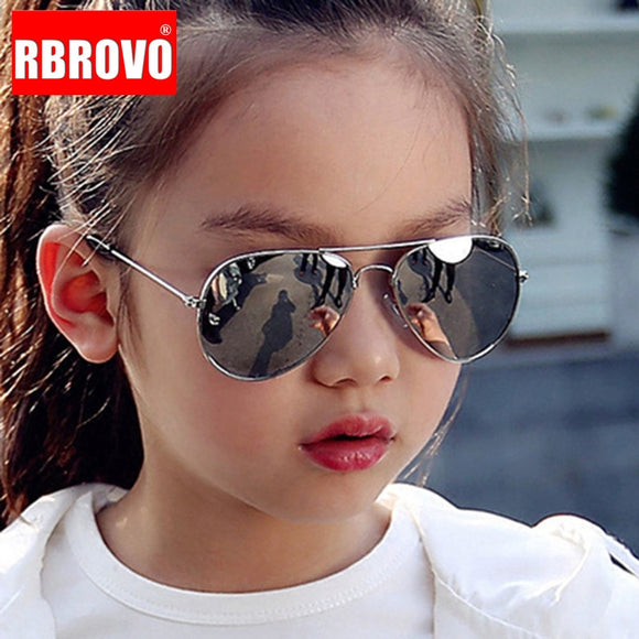 RBROVO Classic Sunglasses Children Glasses Metal Frame