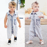 Denim Toddler Baby Infant Boys Girls Jumpsuit Clothes Outfits