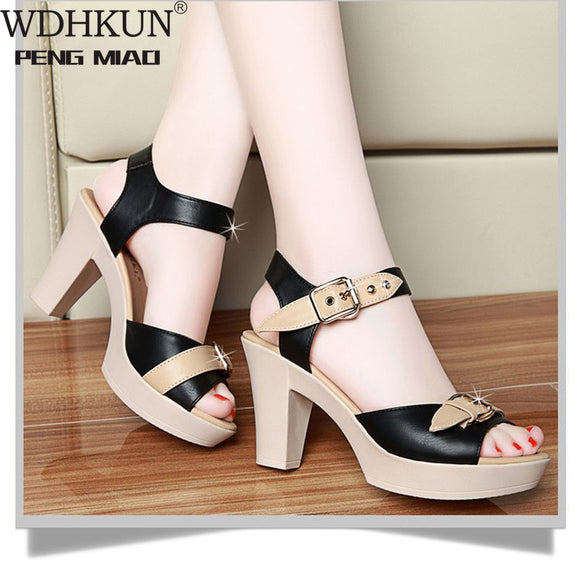 WDHKUN Shoes High Heels Women Sandals Flat Casual Shoes Summer Sandals