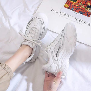 Women Breathable Mesh Casual Shoes Sneaker Lace Up