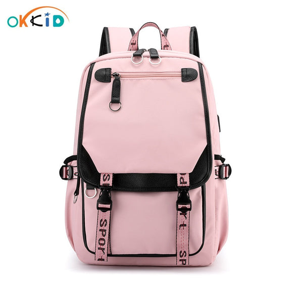 OKKID school bags for girls book bag gift waterproof big backpack