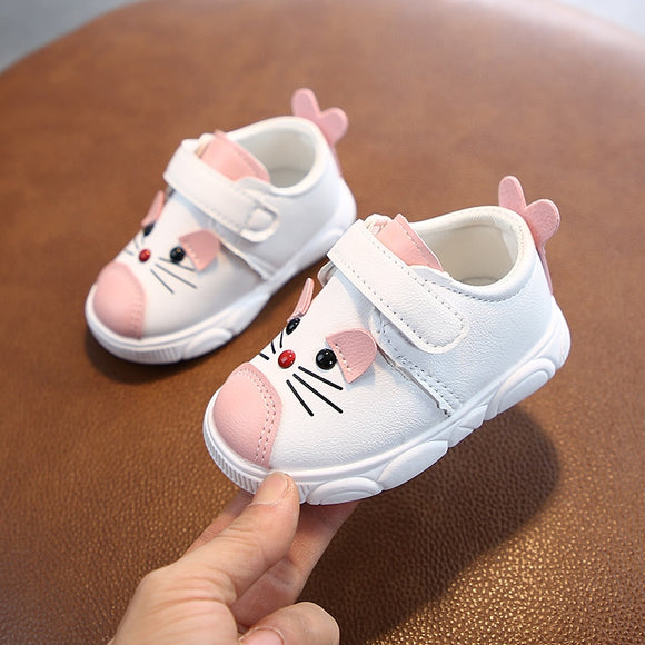 Baby soft bottom casual sneakers cartoon non-slip soft leather shoes