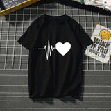 Women's Harajuku love feminina Than heart ulzzang graphic t shirts