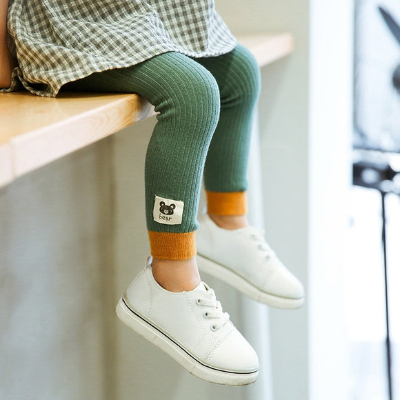 Children Leggings Made By Pure Cotton Warm And Comfortable