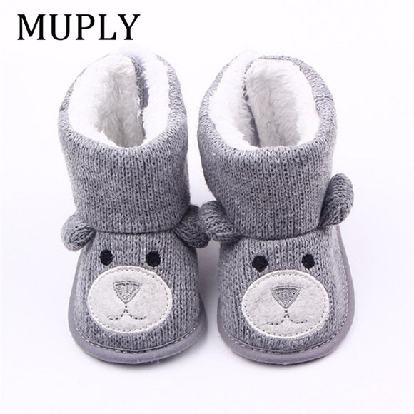 Winter Boots Infant Newborn Cute Cartoon Bear Shoes First Walkers Super Keep Warm Snowfield