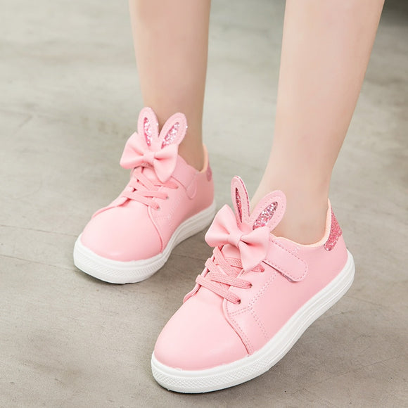 KRIATIV Rabbit Ear Shoes for Girls Tenis Chaussure Enfant Sneakers