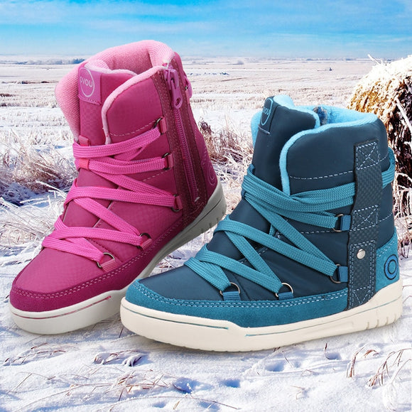 Kids Casual Ankle Boots Uovo Brand Winter High-top Sports Sneakers