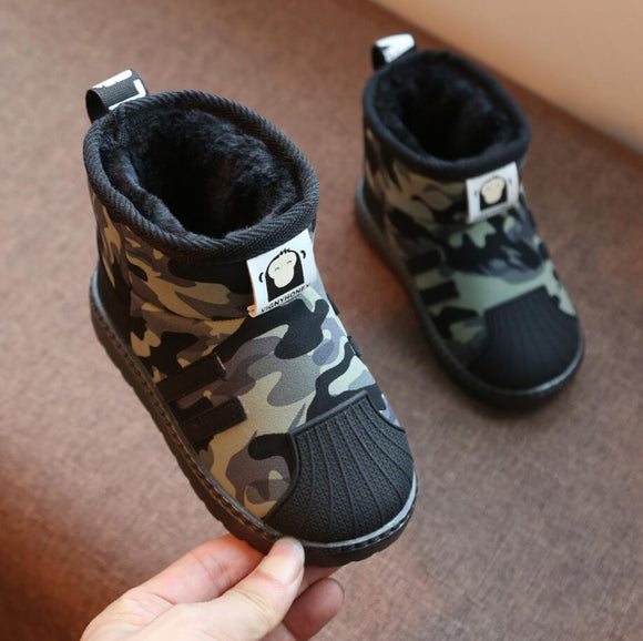 Kids Winter Brand Snow Boots Plush Warm Ankle Martin Baby Sport Shoes