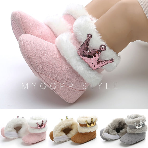 newborn infant winter baby boots warm kids girl snow shoes