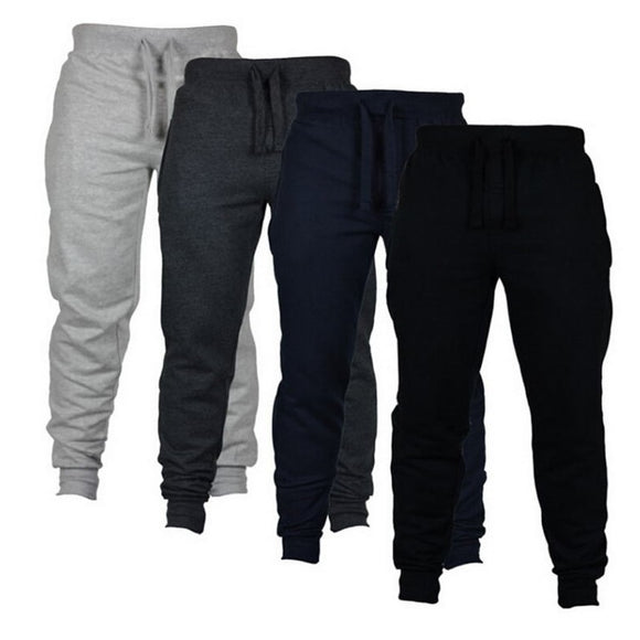 Mens Joggers Casual Pants Fitness Sportswear Tracksuit Bottoms