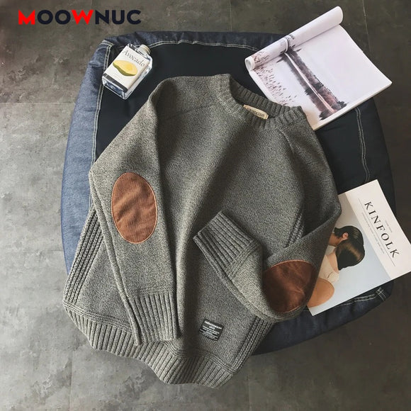 Casual Pullover Hombre Sweater Warm Solid High-Quality