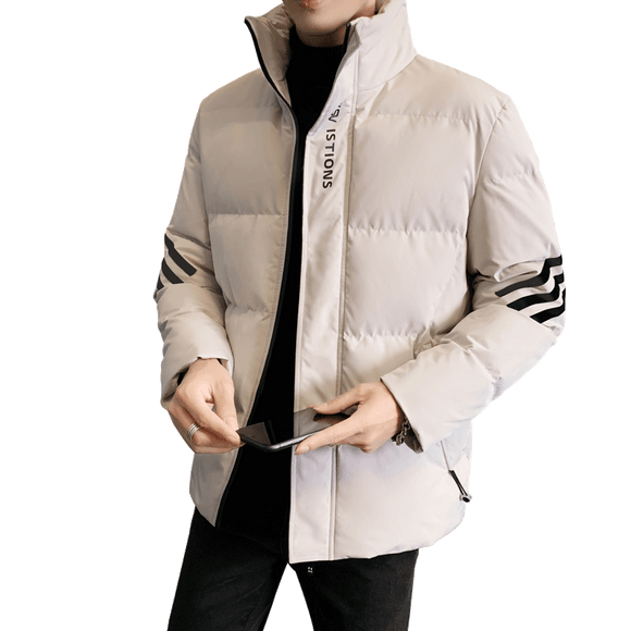Waterproof Jacket Men Parka Coat Thicken Zipper Jacket