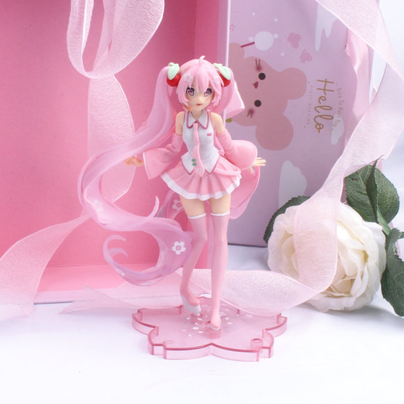 Anime Pink Sakura Action Figures Toys PVC Figure Model