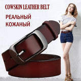 SAN VITALE New Women's Belts Genuine Leather Female Vintage for Jeans