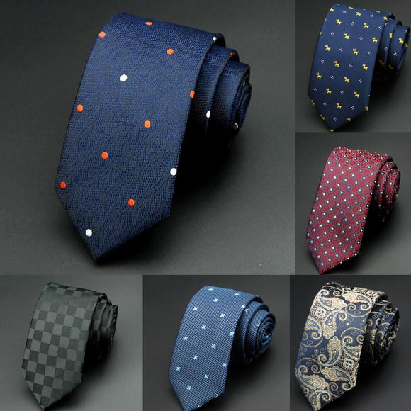 Man Fashion Dot Neckties Corbatas Gravata Jacquard Slim Tie