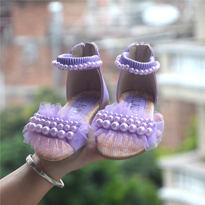 PURPLE PINK WHITE children princess shoes summer new girls sandals