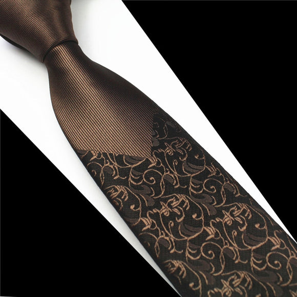 GUSLESON New Skinny Mens Ties Luxury Man Floral Dot Neckties Hombre 6 cm Gravata Slim Tie Classic Classic Casual Tie For Men