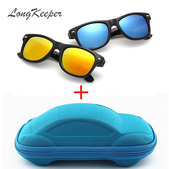 LongKeeper Cool Kids Sunglass UV 400 Protection with Case Children Gift