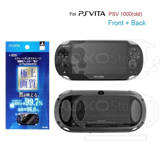 3 in 1 Screen Protector + Soft Bag PSVITA Case Shell